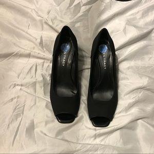 Ellen Tracy peep toe Wedges